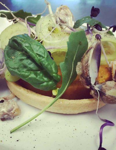 Tarte Fine Légumes, Coquillages | Restaurant l'Oriel à Arles