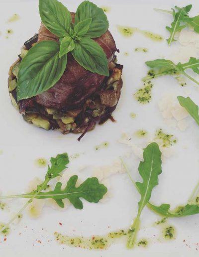 Thon Rouge de Méditerranée, Pesto et Légumes Rôties | Restaurant l'Oriel à Arles