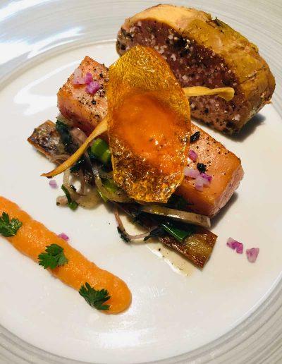 Duo Foie Gras Saumon Salsifis | Restaurant l'Oriel à Arles