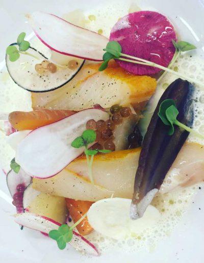 Haddock Fumé Carottes Radis | Restaurant l'Oriel à Arles