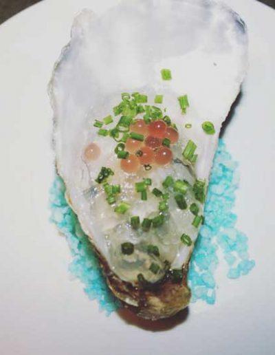 Huître en Gelée d'Eau de Mer Echalotte Vinaigre | Restaurant l'Oriel à Arles
