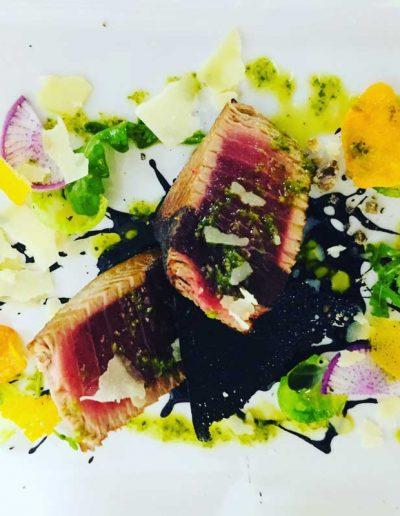 Mi-cuit de Thon Encre de Seiches | Restaurant l'Oriel à Arles