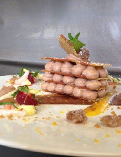 Millefeuille Pain d'Epices Crème de Marron | Restaurant l'Oriel à Arles